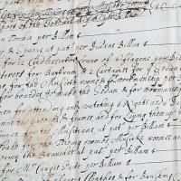 Detail from account of the cost of the plays staged for Charles I in 1636 - Christ Church Archives DP ii.c.1, f.36