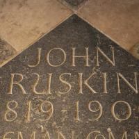 Plaque commemorating John Ruskin, in the Cathedral Ante Chapel