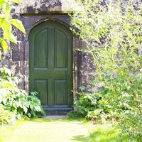 Door between the Deanery and Cathedral gardens