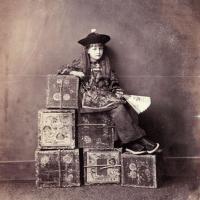 Xie Kitchin as a 'Tea Merchant', 14 July 1873, Tom Quad Rooftop Studio, Christ Church. IN 2155 (Texas).