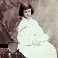 Alice Liddell, July 1860, The Deanery Garden, Christ Church. IN 613 (Princeton).