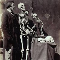 Reginald Southey and Skeletons, June 1857, Christ Church Anatomical Museum. IN 219 (Bradford).