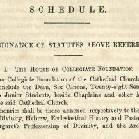 Detail of text from the1867 Christ Church Oxford Act
