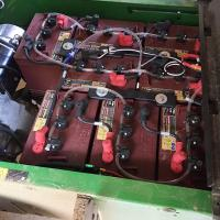 The eight batteries that power the John Deere TE Gator