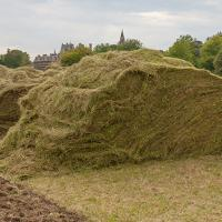 The green hay arrives at Christ Church. (Photo © Catriona Bass)