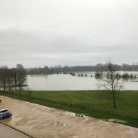 Looking south from the Meadow Building just after the levels began to drop.