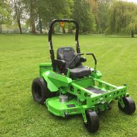 The Mean Green CRX mower out in the Meadow
