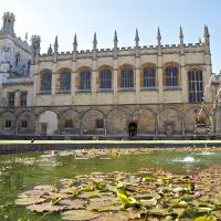 View of Tom Quad, looking out over Mercury Pond