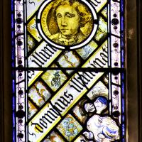Detail in stained glass window