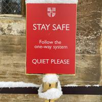 Christ Church has been using signage and new protocols to keep everyone Covid-safe