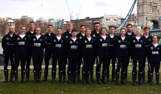 The 2018 Cancer Research UK Boat Race blue boat crews