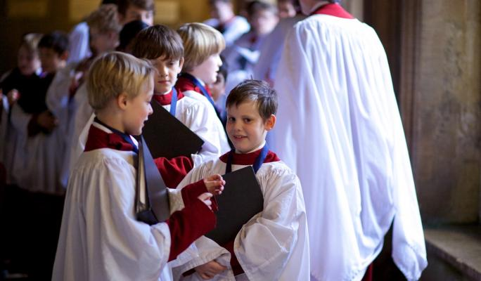Choir boys at the Cathedral