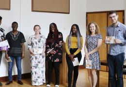 Students and pupils at the IntoUniversity mentoring graduation