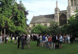 The Going Down Party in the Deanery garden