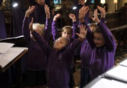 Frideswide Voices girls in rehearsal