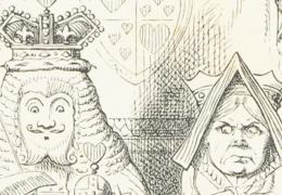 Detail from frontispiece of Alice's Adventures in Wonderland by L. Carroll