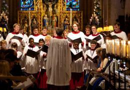 Christ Church Cathedral Choir during a service