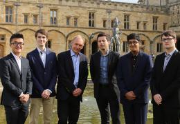 Computer Science undergraduates with Professor Yarin Gal and Professor Sir Tim Berners-Lee