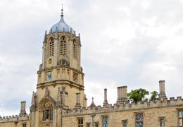 View of Tom Tower from Tom Quad