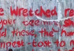 Grafitti in the Calais Jungle