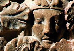 Detail of sculpture on the shrine of St Frideswide, Christ Church Cathedral