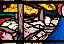 Stained glass window detail, Christ Church Cathedral