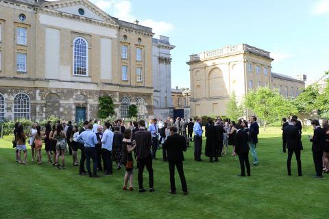 Social gathering in the Deanery Garden