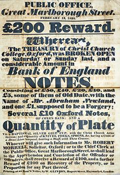 Detail from the 1828 Reward poster