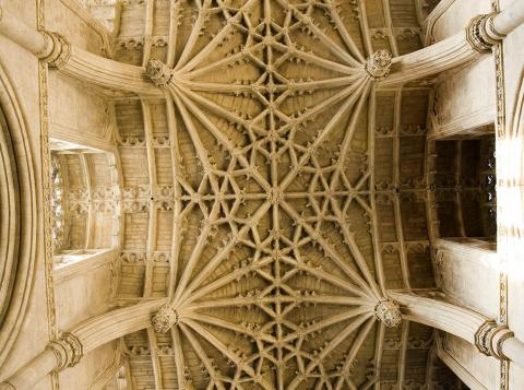 Section of the choir roof
