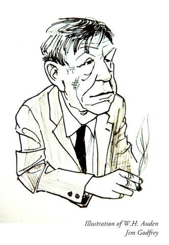 Pen Portrait of W.H. Auden by Jim Godfrey