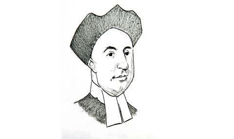 Illustration of Bishop George Berkeley by Jim Godfrey