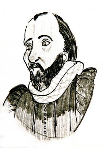 Illustration of Robert Burton by Jim Godfrey