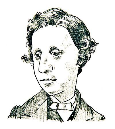 Illustration of Lewis Carroll by Jim Godfrey