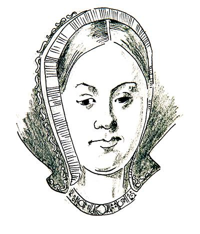 Illustration of Catherine of Aragon by Jim Godfrey