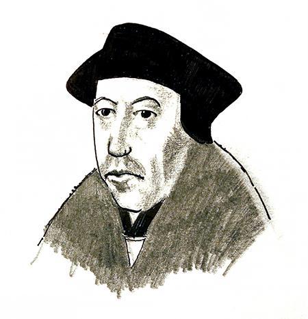 Illustration of Thomas Cranmer by Jim Godfrey