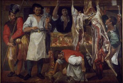 Picture of butcher's shop by Carracci