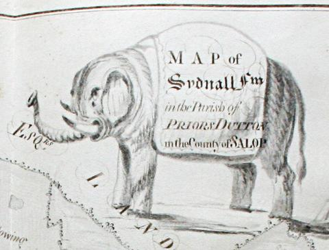 Detail from the Careswell 'atlas' shelfmark viii.a.53