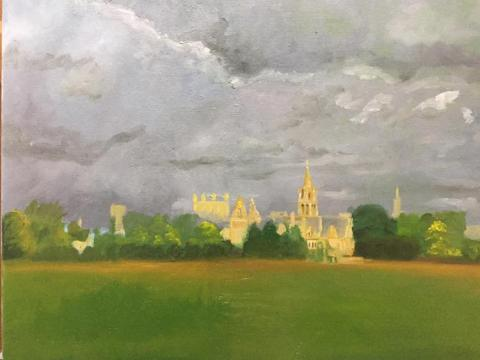 Painting of Christ Church Meadow by David Weller
