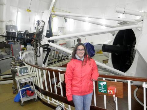 Dr Morabito at the Isaac Newton telescope