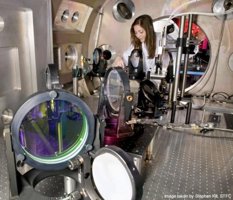 Photo of Dr Jena Meinecke in the lab