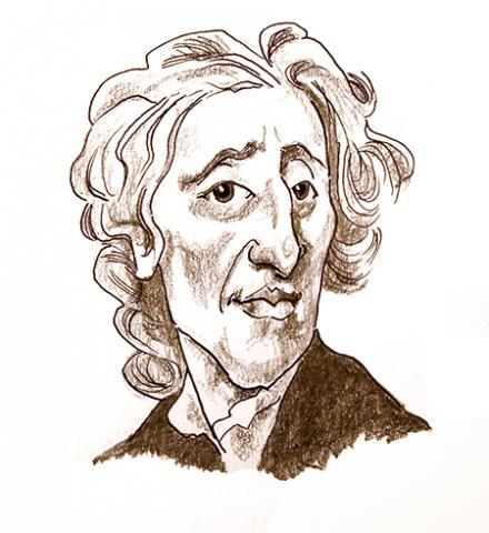 Illustration of John Locke by Jim Godfrey