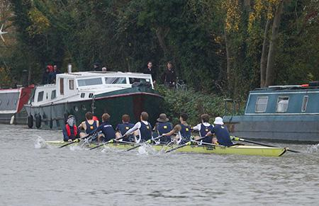 One of Christ Church's eights on the river