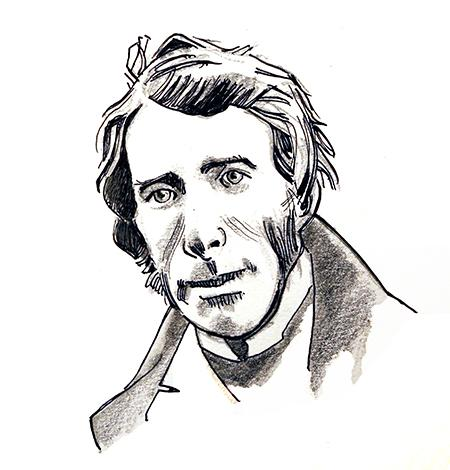 Illustration of John Ruskin by Jim Godfrey
