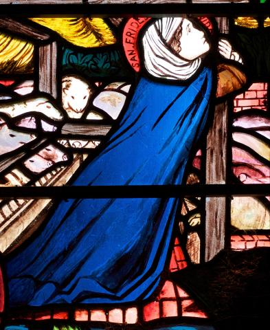 St Frideswide in stained glass