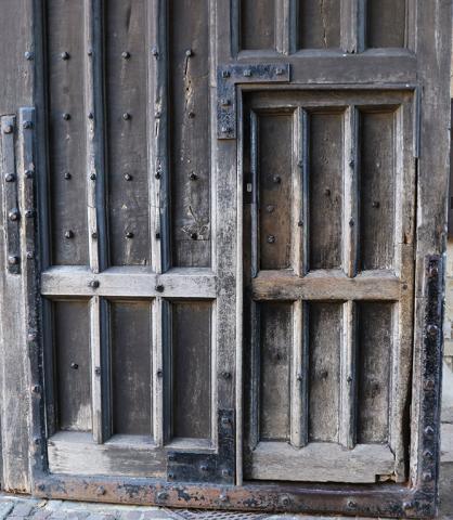 Locked gates at Tom Tower
