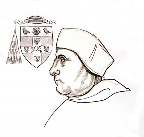 Illustration of Cardinal Wolsey by Jim Godfrey