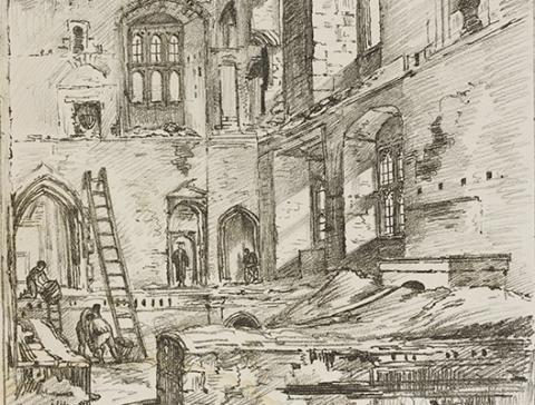 Detail of an engraving by William Crotch