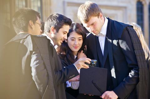 Students in sub-fusc