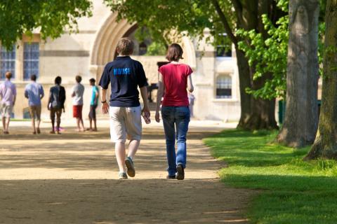 Students on New Walk