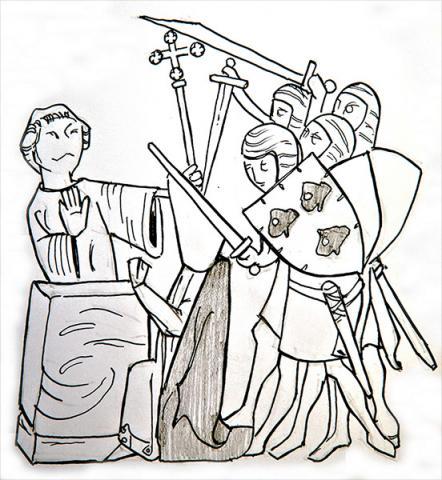 Pen Portrait of Thomas Becket by Jim Godfrey